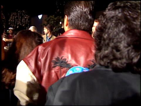 Arnold Schwarzenegger at the Planet Hollywood entrances on September 17 1995