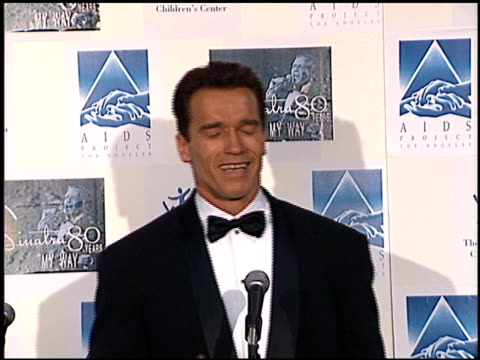 arnold schwarzenegger at the sinatra's 80 years my way at the shrine auditorium in los angeles california on november 19 1995 - arnold schwarzenegger stock-videos und b-roll-filmmaterial