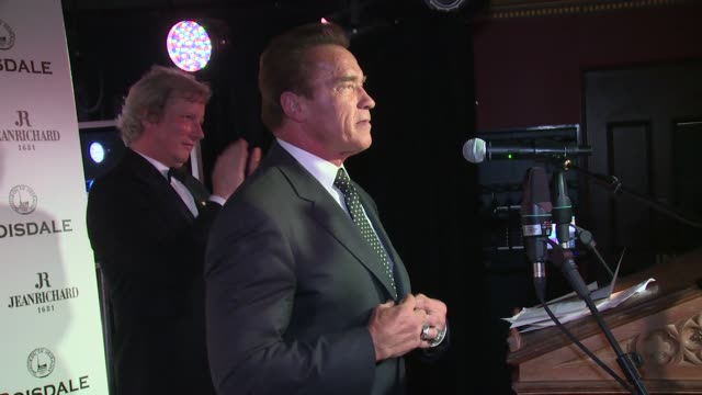 arnold schwarzenegger at the spectator cigar smoker of the year awards on 16th november 2014 in london, england. - arnold schwarzenegger stock-videos und b-roll-filmmaterial