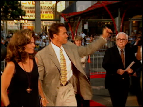 Arnold Schwarzenegger at the 'Waterworld' Premiere at Grauman's Chinese Theatre in Hollywood California on July 26 1995