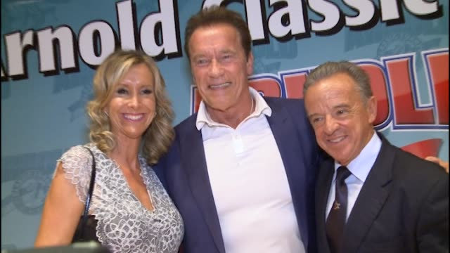 Arnold Schwarzenegger attends the press conference for the Arnold Classic Europe 2017 held at the Barcelona Fira 2