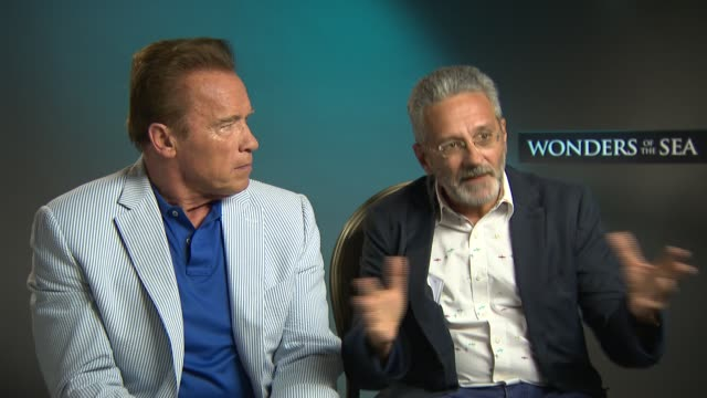 INTERVIEW Arnold Schwarzenegger Francis Mantello on supporting governments and ongoing efforts at Majestic Hotel on May 21 2017 in Cannes France