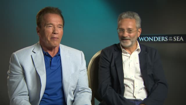 INTERVIEW Arnold Schwarzenegger Francis Mantello on the movie and reasons for coming aboard at Majestic Hotel on May 21 2017 in Cannes France