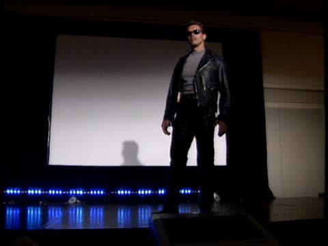 arnold schwarzenegger thanks the fans. - terminator stock videos & royalty-free footage