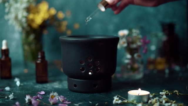 aromatheraphy spread - eco tourism stock videos & royalty-free footage