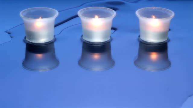 Aromatherapy Candles in a Spa Resort