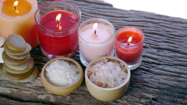 aromatherapy massage setting - exfoliation stock videos & royalty-free footage