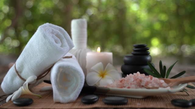 vídeos y material grabado en eventos de stock de aromatherapy - piedra roca