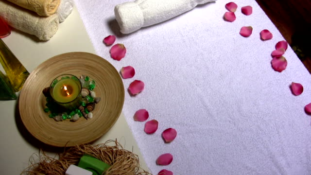 aromatherapy - massage table stock videos & royalty-free footage