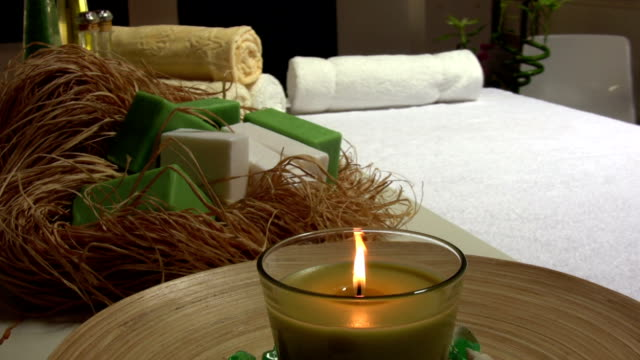 vídeos y material grabado en eventos de stock de aromaterapia - massage table