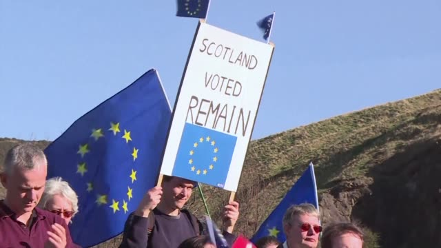 Around 1000 proEU protesters took to Edinburgh streets Saturday to mark the 60th anniversary of European unity just days before Brexit process is...