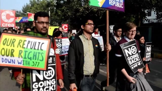 around 200 people including many gays and lesbians joined together in a republic day march to highlight minority issues including gay women dalits... - dalit stock videos and b-roll footage