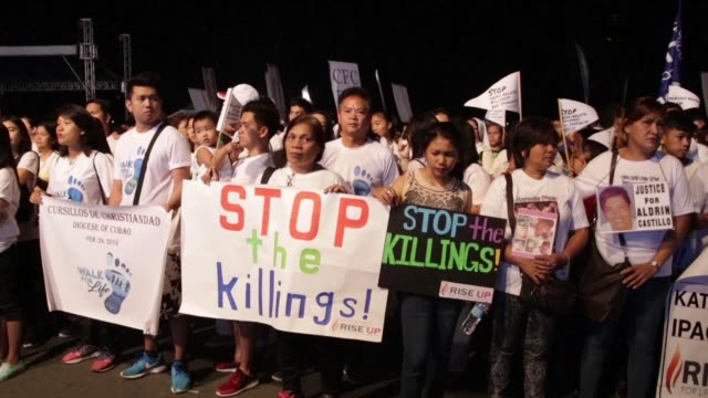 Around 2000 Roman Catholic Filipinos protested in Manila on Saturday against a push to legalise divorce with church groups also using the Walk for...