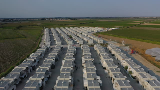 around 8500 people from northern syrian lives in 600 houses at the boynuyogun refugee camp on september 16 2019 in hatay turkey turkey's president... - hatay stock videos & royalty-free footage