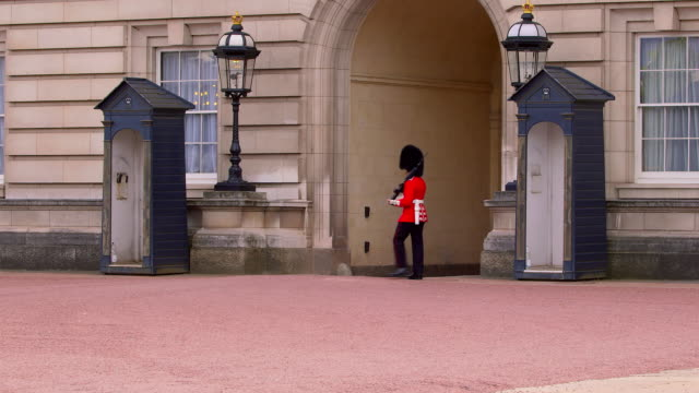 around buckingham palace - marching stock videos and b-roll footage