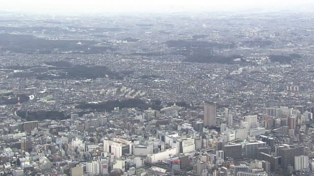 aerial, around machida station, tokyo - wide stock videos & royalty-free footage