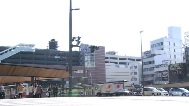 around oita station, oita, japan - kyushu railway stock videos & royalty-free footage
