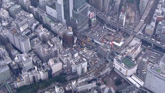 AERIAL, Around Shibuya Station, Tokyo, Japan