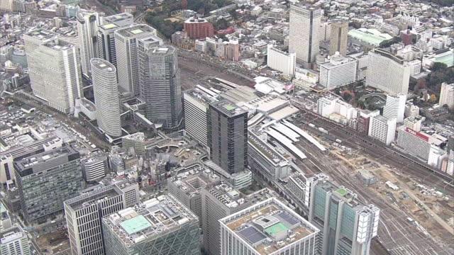 AERIAL, Around Shinagawa Station, Tokyo, Japan