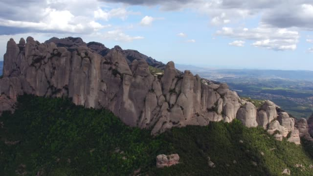 around the cliff to the montserrat monastery - abbey stock videos & royalty-free footage