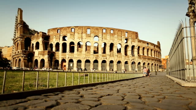 stockvideo's en b-roll-footage met around the coliseum of rome - colosseum