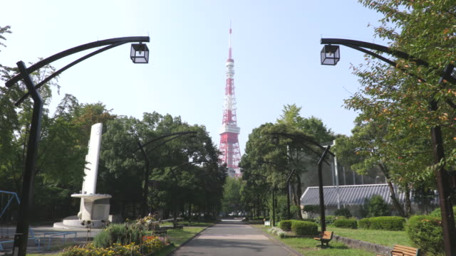 around tokyo tower - tokyo tower stock videos and b-roll footage
