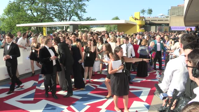 arqiva british academy television awards at the national theatre on may 27, 2012 in london, england - 英国アカデミー賞テレビ部門点の映像素材/bロール