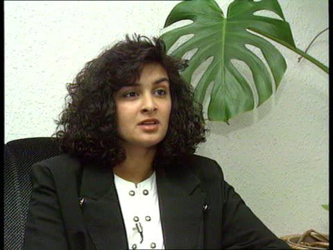 Arranged Muslim marriage bride seeks annulment INT SEQ Nasreen and 2 children up escalator and children eating icecream CMS Nasreen Akmal interview...