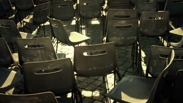の空の椅子 - サンピエトロ広場点の映像素材/bロール