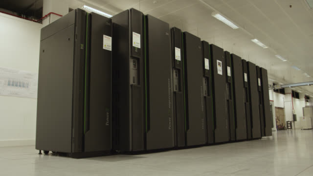 array of supercomputers, uk - big data video stock e b–roll
