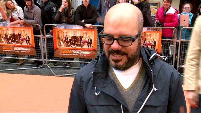 arrested development season 4 red carpet; england: london: ext arrested development season 4 poster / 'bluth's original frozen banana' sign /jeffrey... - jeffrey tambor stock videos & royalty-free footage