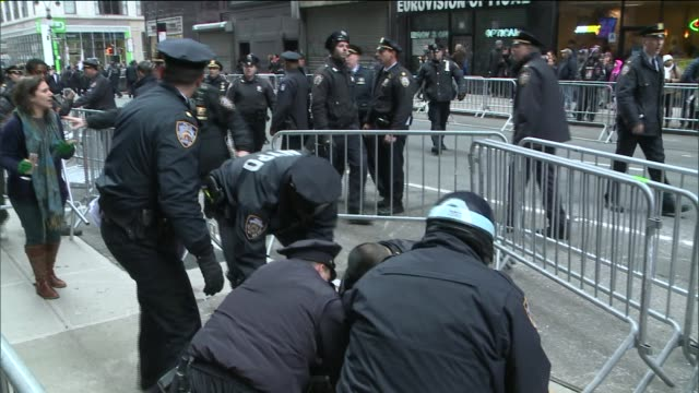 Arrests made at the annual Macy's Thanksgiving Day Parade Demonstrators took to the streets to protest the grand jury decision to not indict Officer...