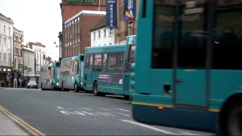 arriva faces court action over disability; t26031248 / darlington: bus along bus driver inside bus tilt down step of bus - darlington north east england stock videos & royalty-free footage