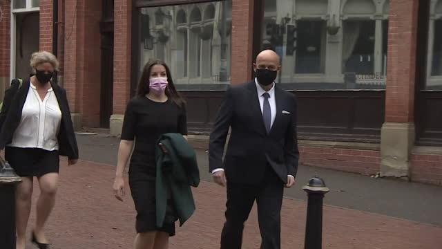 arrival and departure of pc benjamin monk and pc mary ellen bettley-smith at birmingham crown court, where they are accused of murder and assault of... - former stock videos & royalty-free footage