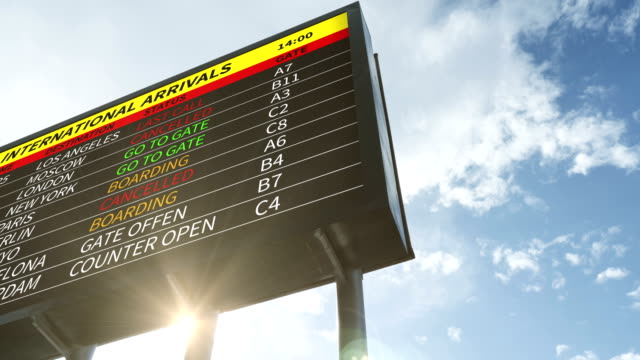 arrival departure board - 4k resolution - large scale screen stock videos & royalty-free footage