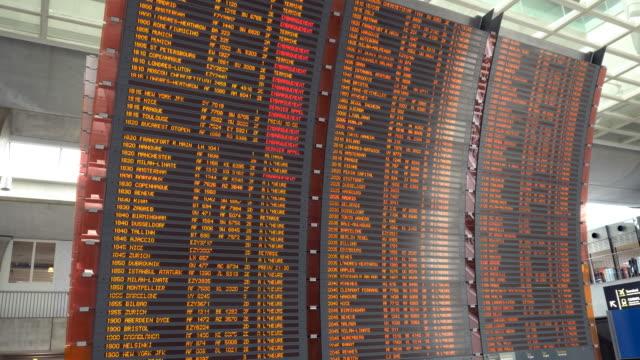 vídeos y material grabado en eventos de stock de tabla de llegadas y salidas - tabla de llegadas y salidas