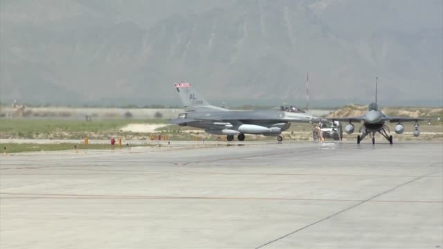 Arrival of the 100th Fighter Squadron F16 Fighting Falcons at Bagram Airfield Afghanistan The 100 FS is based out of Dannelly Field Alabama
