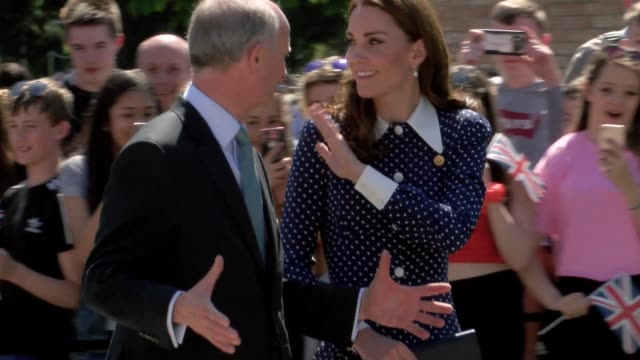 GBR: The Duchess of Cambridge visits Bletchley Park to view D Day exhibition