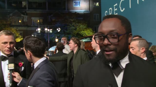 arrivals and interviews at 'spectre' film premiere monica bellucci talking to press / william interview sot i'm the audience / daniel craig as... - james bond fictional character stock videos and b-roll footage