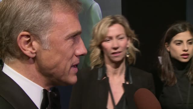 arrivals and interviews at 'spectre' film premiere more waltz chatting with press / christoph waltz interview sot on being mean do you want to try it... - bond girl fictional character stock videos & royalty-free footage