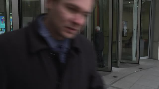 arrivals at bbc broadcasting house england london bbc broadcasting house ext john mcdonnell mp arriving and brief interview sot i don't believe... - george osborne stock videos and b-roll footage