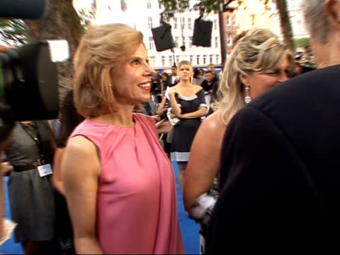 Arrivals at 'Mamma Mia' film premiere Christine Baranski as interviewed by press