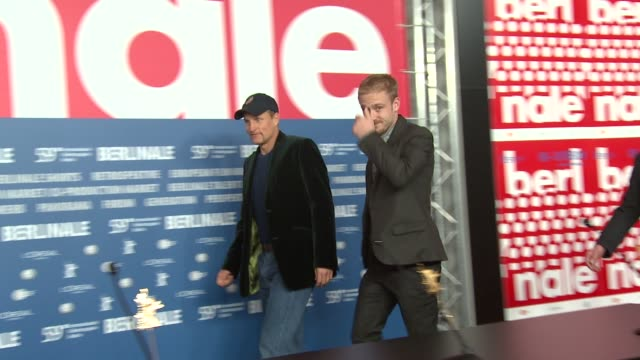 arrivals broll at the 59th berlin film festival the messenger press conference at berlin - oren moverman stock videos and b-roll footage