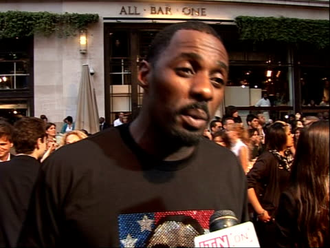Arrivals for 'RocknRolla' film premiere Idris Elba interview SOT Talks about film doing well and potential sequels On being in Jada Pinkett Smith's...