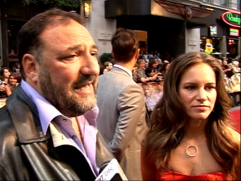 arrivals for 'rocknrolla' film premiere; joel silver and susan downey interview sot - guy a great film maker/ fans of his other films - on how film... - sherlock holmes stock videos & royalty-free footage