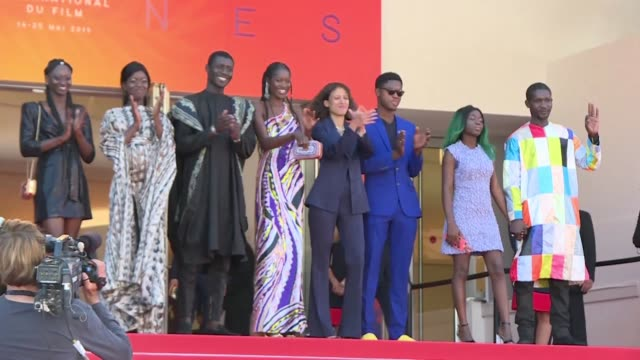 FRA: Cast arrives ahead of screening of Maty Diop's Atlantics