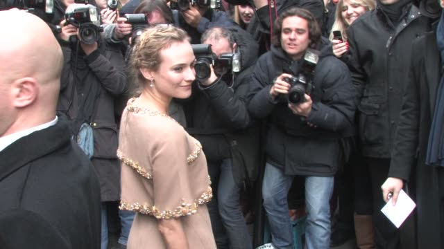 arrives at the Chanel Haute Couture Show at Paris Fashion Week A/W 2011 Diane Kruger on January 25 2011 in Paris France
