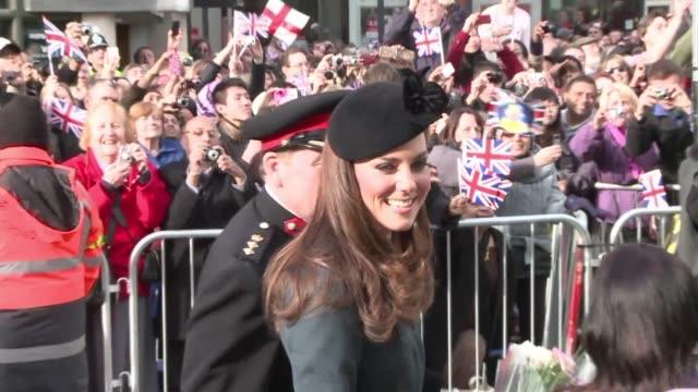 arropada por una multitud entusiasta, la reina isabel ii empezo el jueves una gira nacional de celebracion del 60 aniversario de su llegada al trono.... - multitud stock videos & royalty-free footage