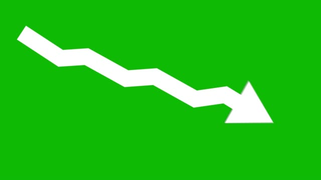 arrow downward animated icon. economic simple moving arow stock video - graph stock videos & royalty-free footage