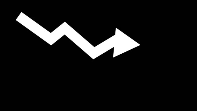 arrow downward animated icon. economic simple moving arow stock video - moving down video stock e b–roll